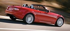 2011 Mazda MX5 Miata on the Road