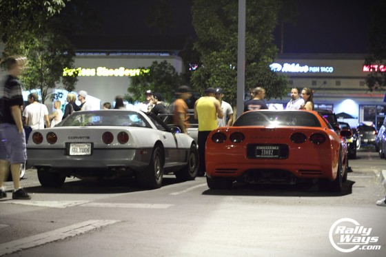 Corvettes at Tacos and Tuners Encinitas