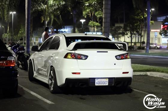 Mitsubishi Evolution X Wicked White Rear