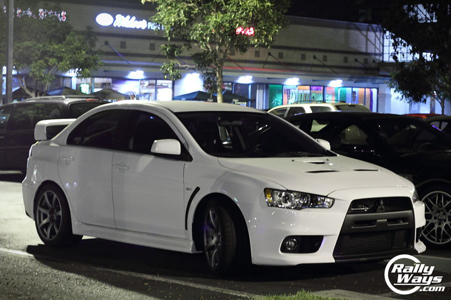 oh and why tacos and tuners cause of the famous wahoos tacos wicked white - Mitsubishi Evo X Wicked White