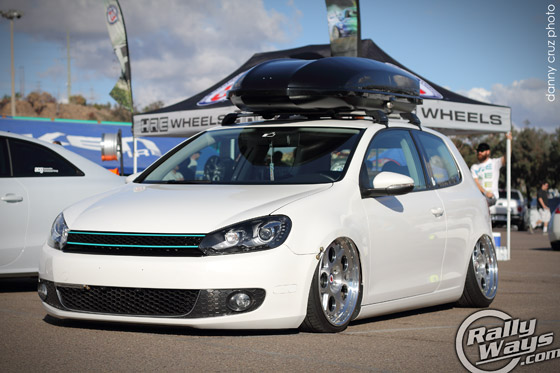 Slammed Volkswagen GTI