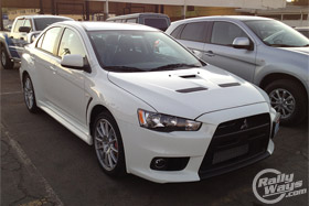 Mitsubishi Lancer Evolution X in Wicked White