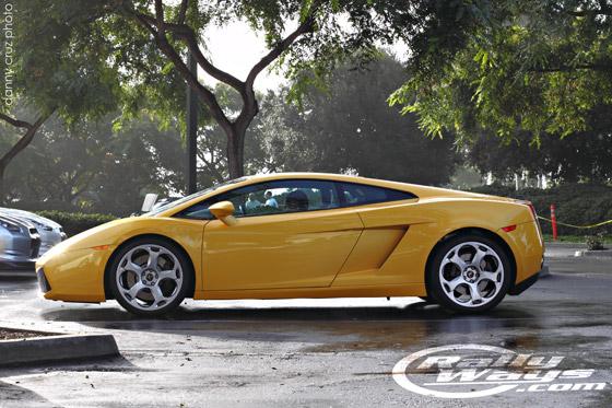 Lamborghini Gallardo in the Wet