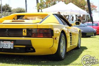 Yellow Ferrari Testarossa
