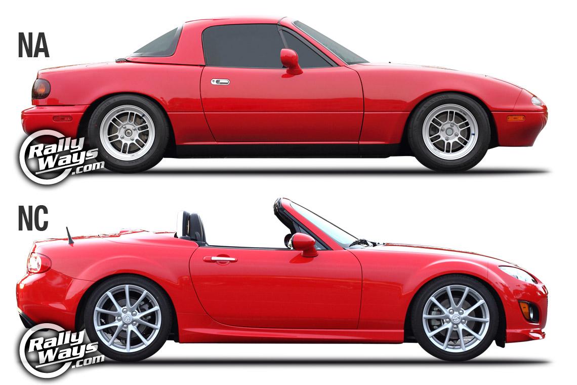 Mazda Mx 5 Na Miata Vs Nc Miata Generation Match Up