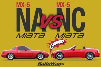 Mazda MX-5 NA Miata vs NC Miata Generation Match Up