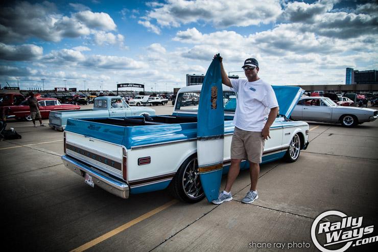Custom Classic Truck and Surfboard