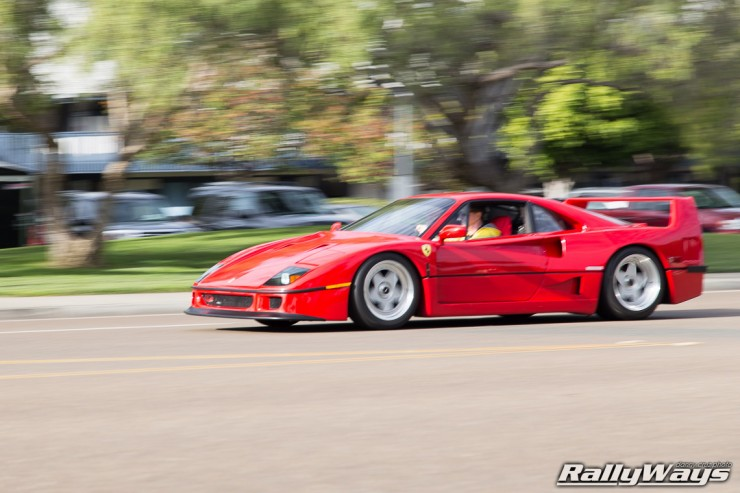 Ferrari F40 in Action Photo Sequence 4