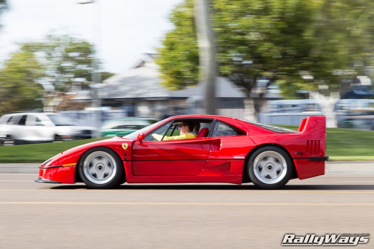 Ferrari F40 in Action Photo Sequence 6