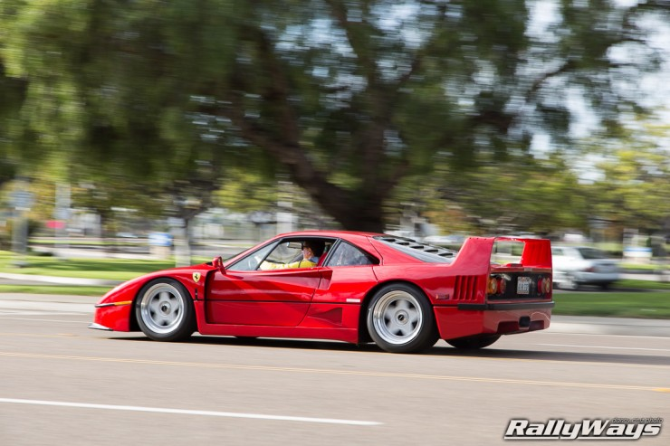 Ferrari F40 in Action Photo Sequence 7