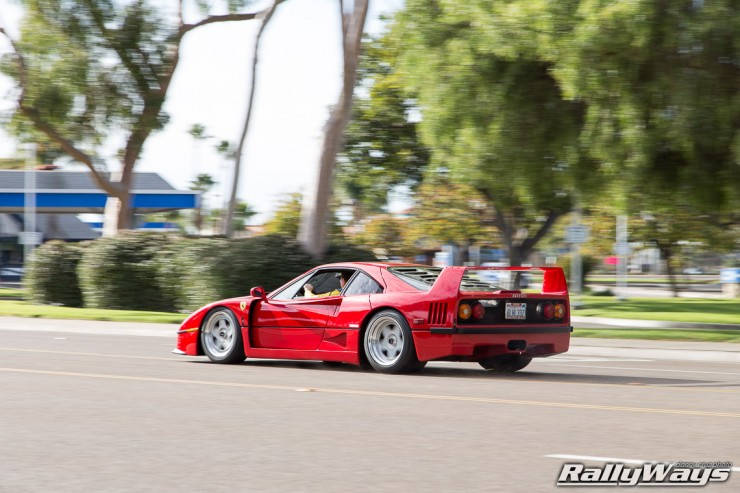 Ferrari F40 in Action Photo Sequence 8