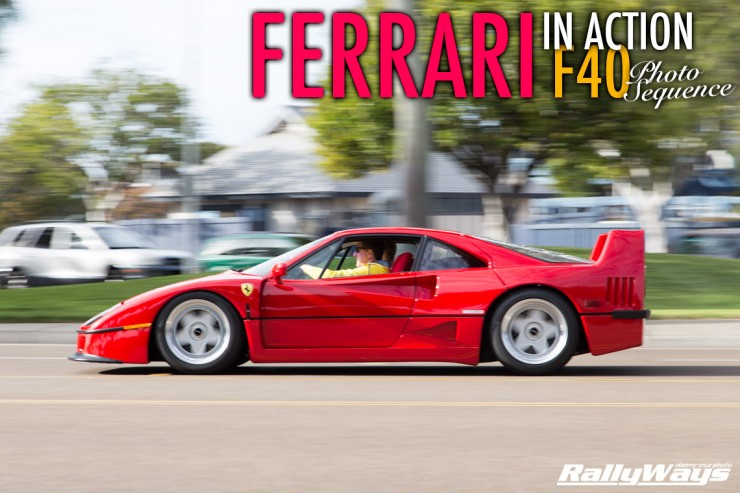 Ferrari F40 in Action Photo Sequence