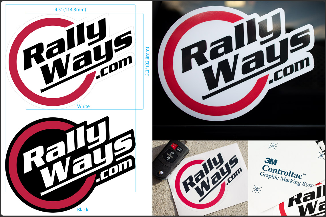 RallyWays Decals Collage