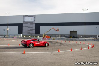 Ron Fellows C7 Corvette Autocross Course Action