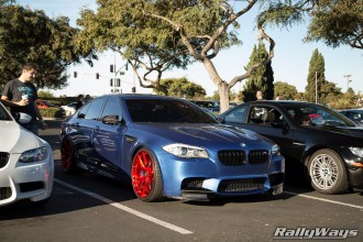 BMW M5 Monte Carlo Blue on Red HRE Wheels