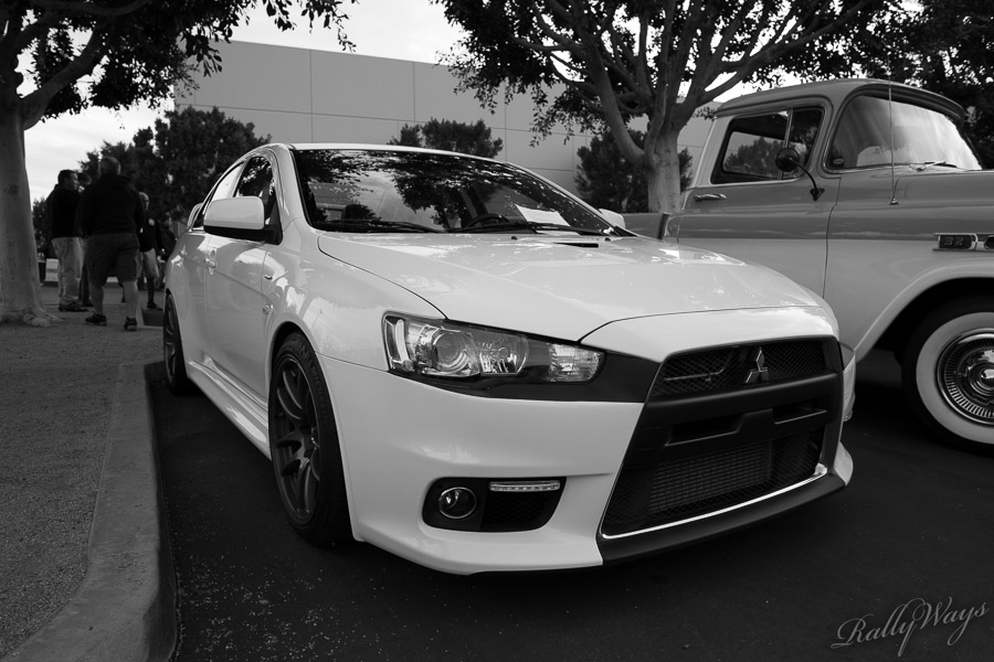 Mitsubishi Evolution X in Black and White