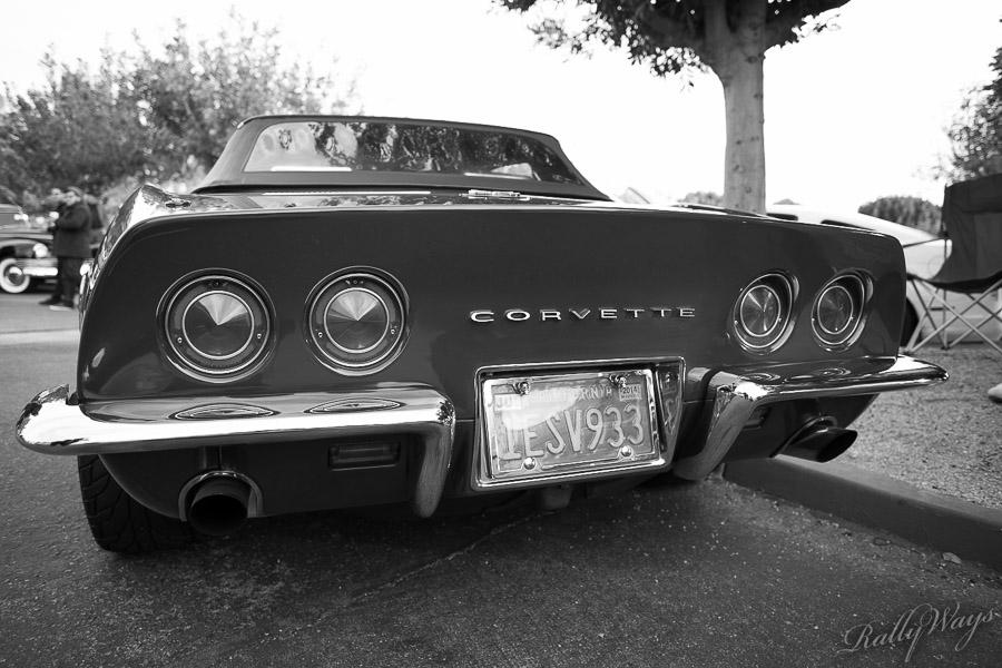 Chrome Bumper Corvette in Black and White