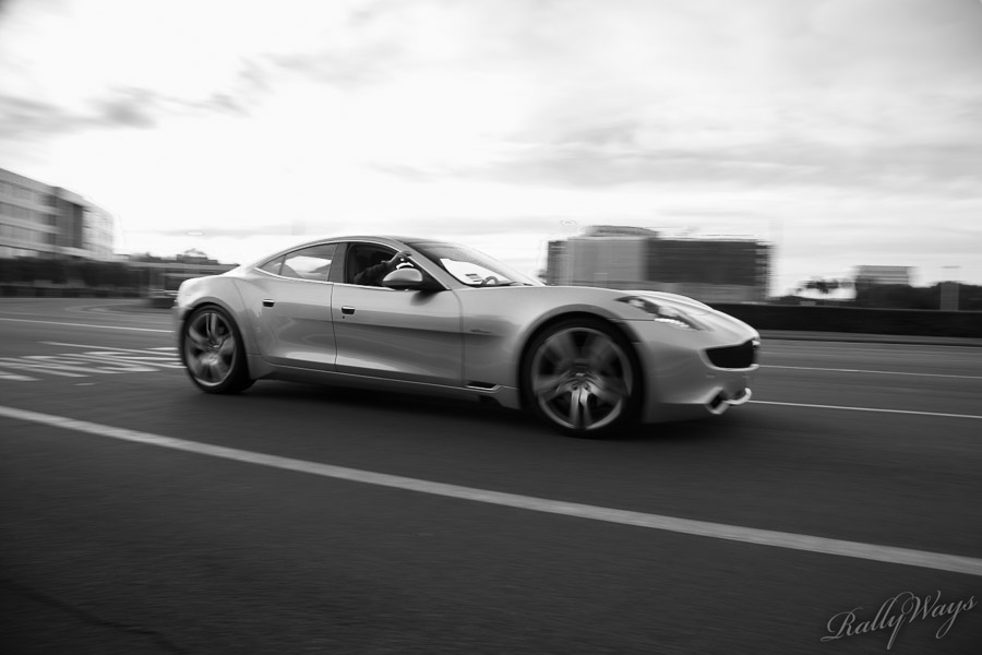 Fisker Karma in Black and White