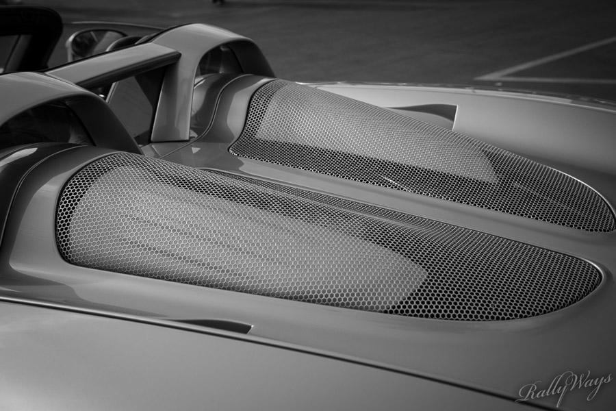 Rear hatch on a Porsche Carrera GT