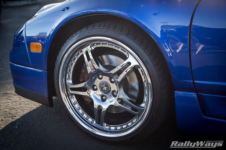 Chrome HRE Wheels on a Honda NSX