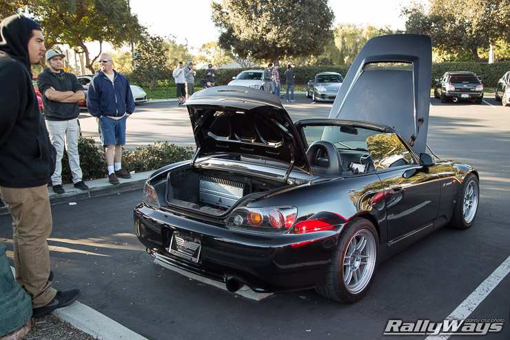 Honda S2000 with Sound System and Enkei RPF1
