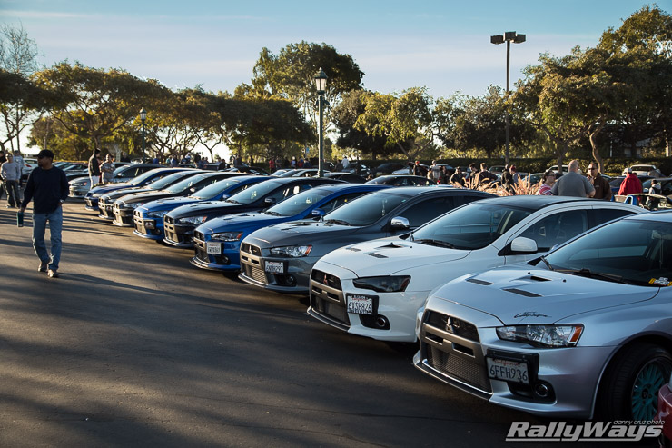 Cbad Cars - Car Show Pictures - Evo X Lineup
