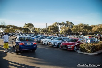 Big Group of Evo X at Cbad Cars