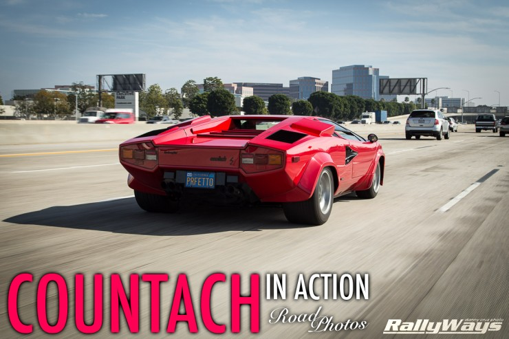 Semi-Lucky Lamborghini Countach Road Photos