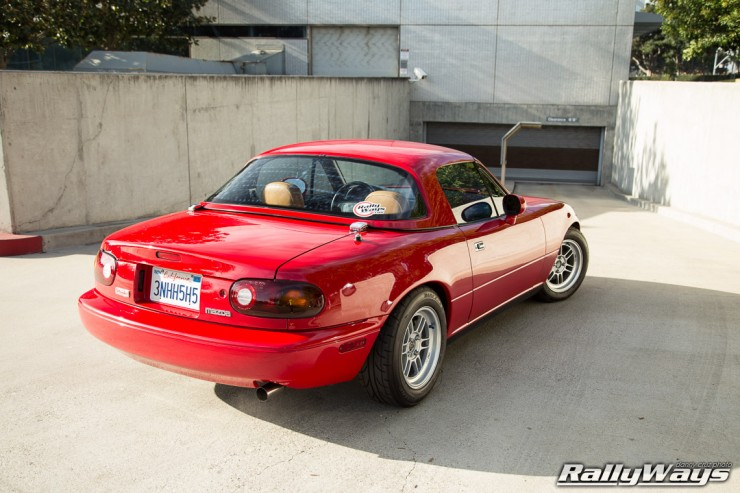 RallyWays Miata at Home at Mazda Irvine