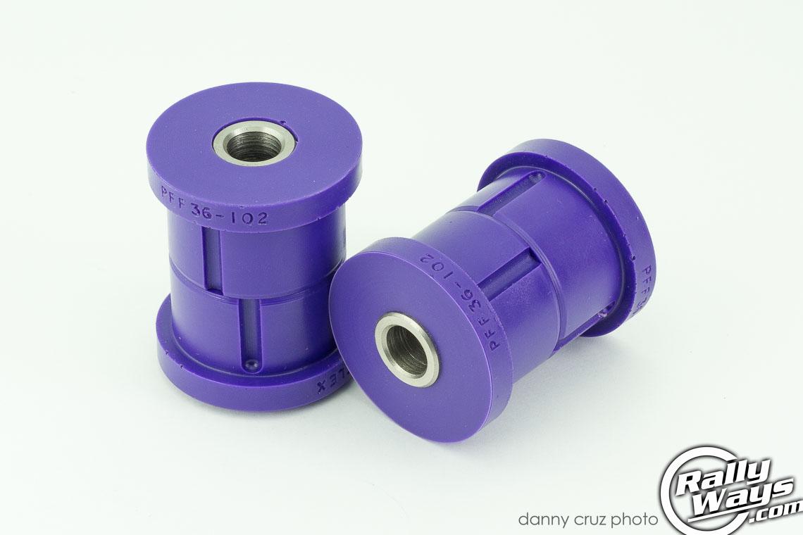 Mission Purple Polyurethane Bushings Improve Car Handling