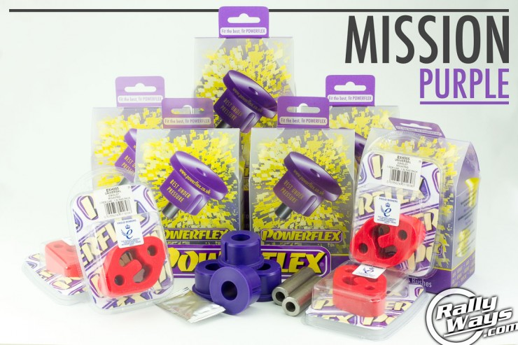 Mission: Purple Polyurethane Bushings to Improve Car Handling