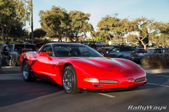 Red Corvette C5 Z06 at Cbad Cars.