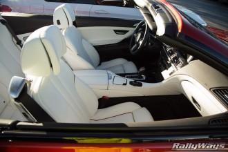 White BMW Convertible Interior