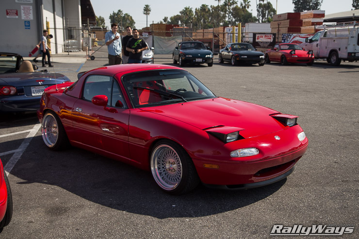 Sleepy Red Miata