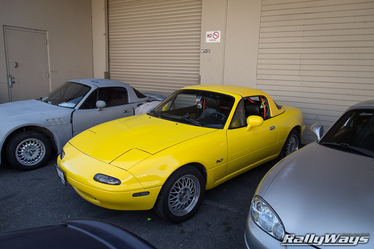 Sunburst Yellow Miata at Project G