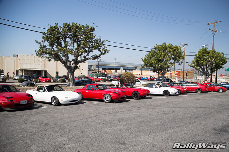 Lots of Mazda Miatas
