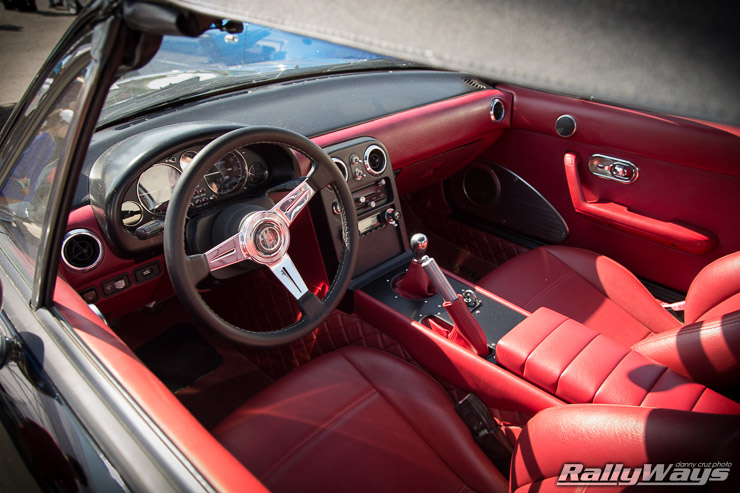 CXMoney Miata with Red Interior