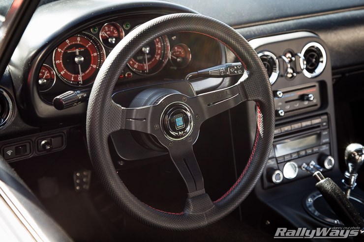 Miata with Nardi Deep Corn 330mm Steering Wheel
