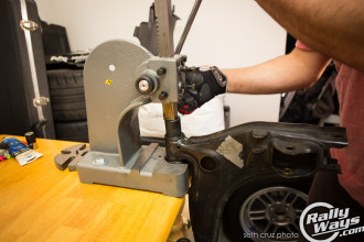 Miata Suspension Disassembly - Arbor Press