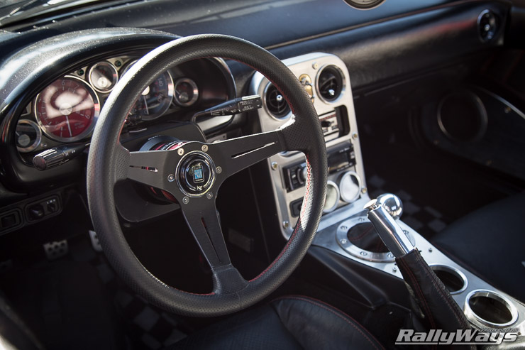 Miata with Nardi Deep Corn 350mm Steering Wheel