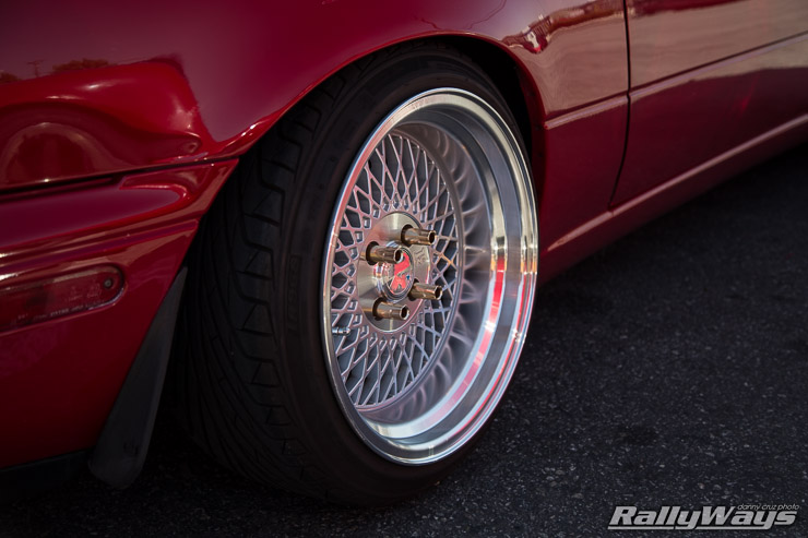 Red Miata Tuner Wheels