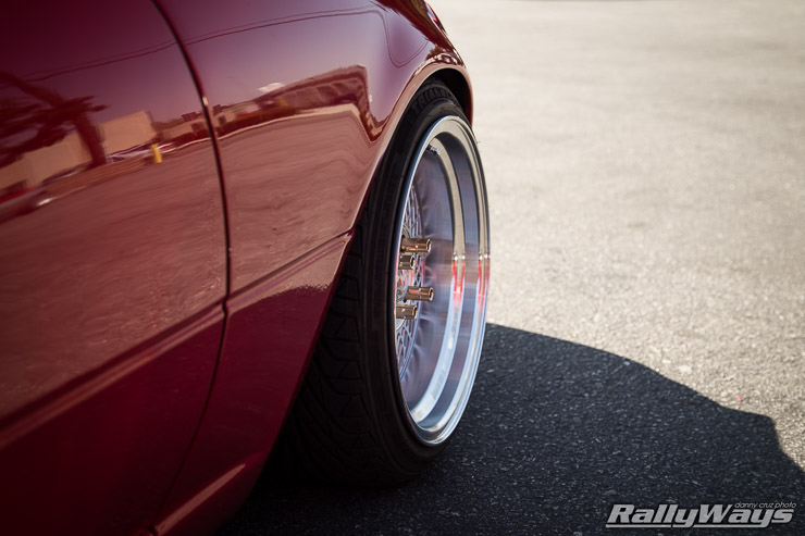 Slammed Red Miata Perfect Fitment