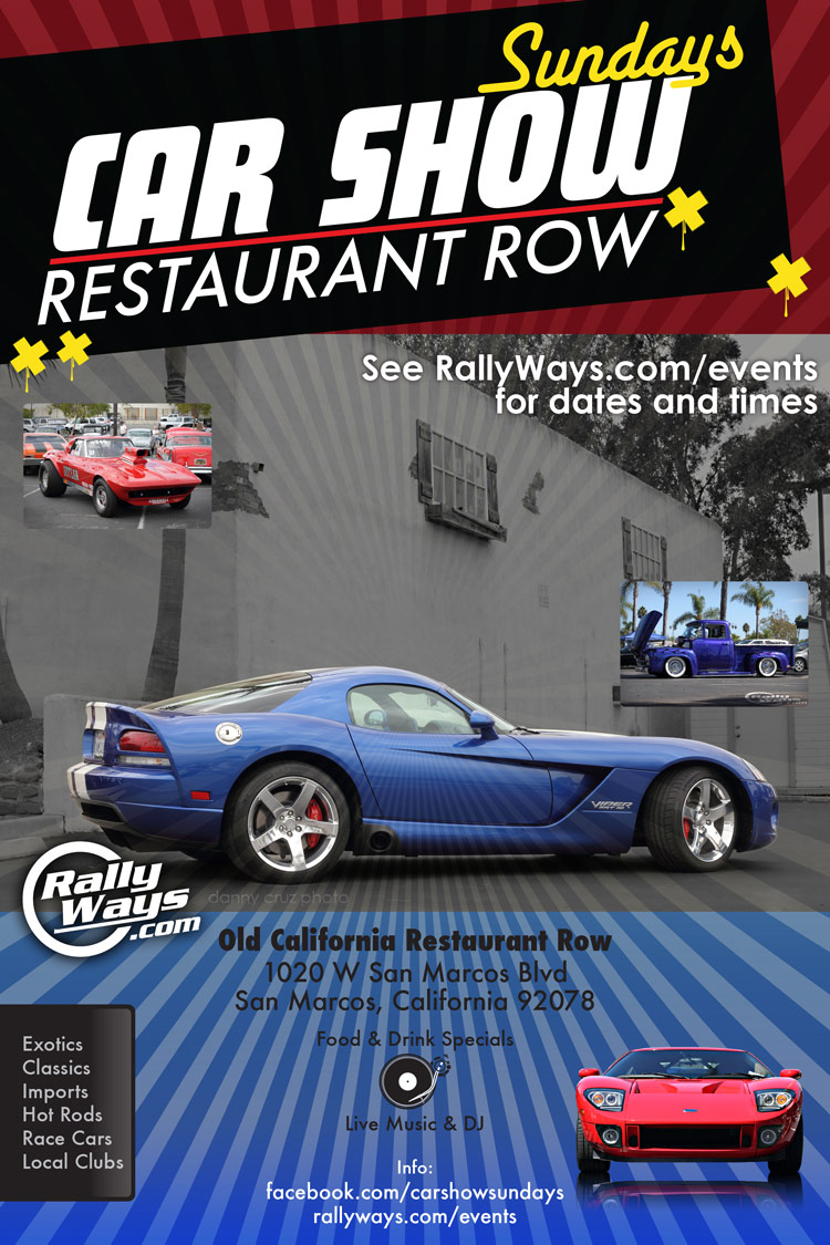 Car Show Sundays at Old California Restaurant Row
