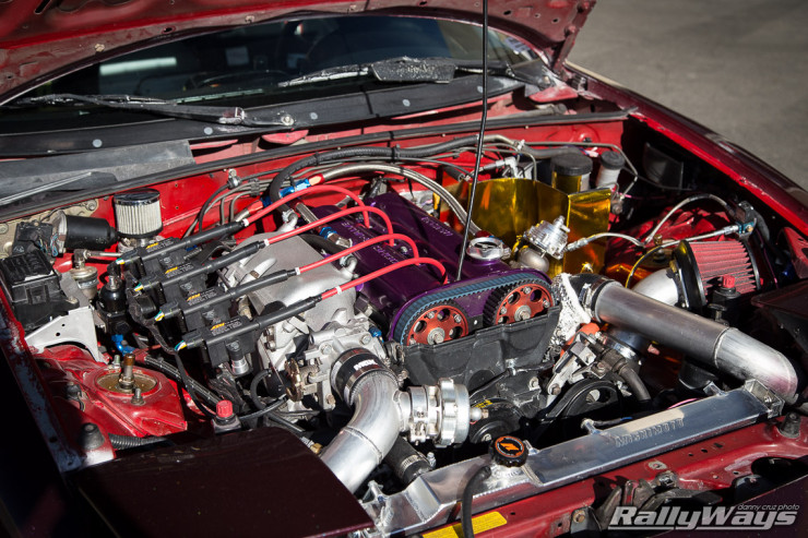 Turbo Miata Engine Bay