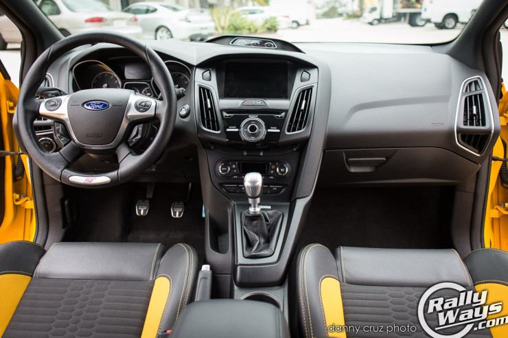 The Interior of a 2014 Ford Focus ST with Recaro package.