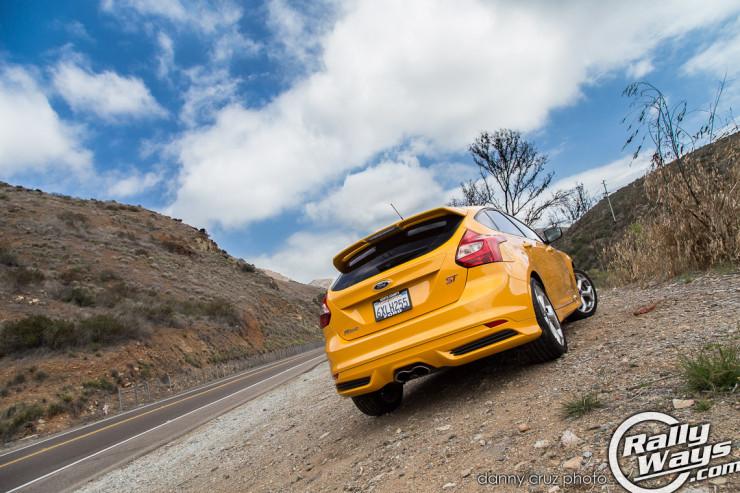 2014 Ford Focus ST Tangerine Scream Rear View