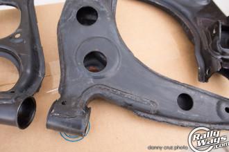 Sanding and restoring Miata control arms