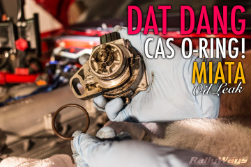 Dat Dang CAS O-Ring Miata Oil Leak - How to replace the Miata CAS O-Ring