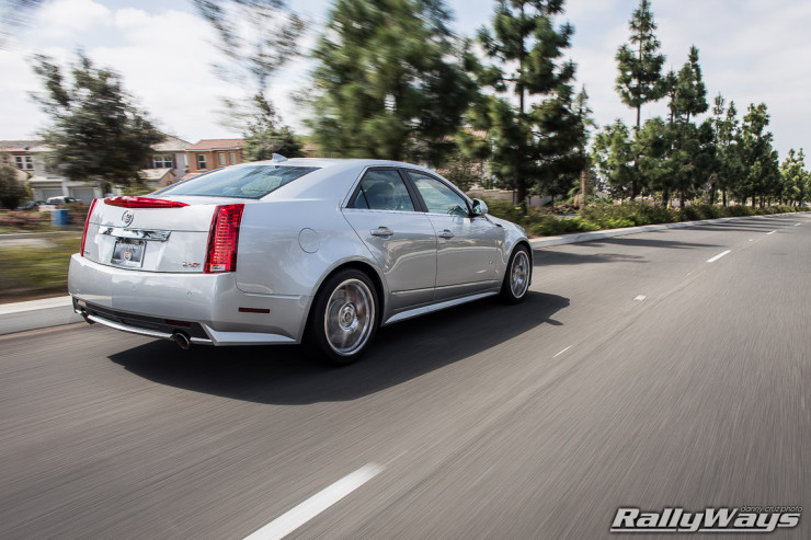 Silver Cadillac CTS-V at Speed - Photo by RallyWays