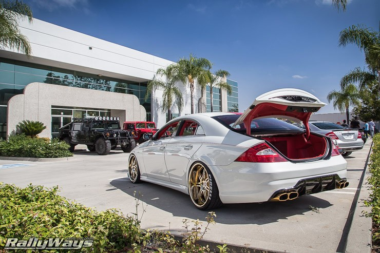 Custom Merc on Gold Wheels